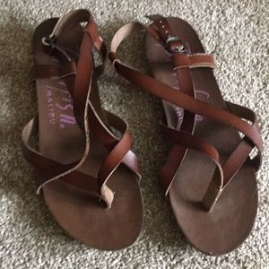 Blowfish Strappy Brown Sandals